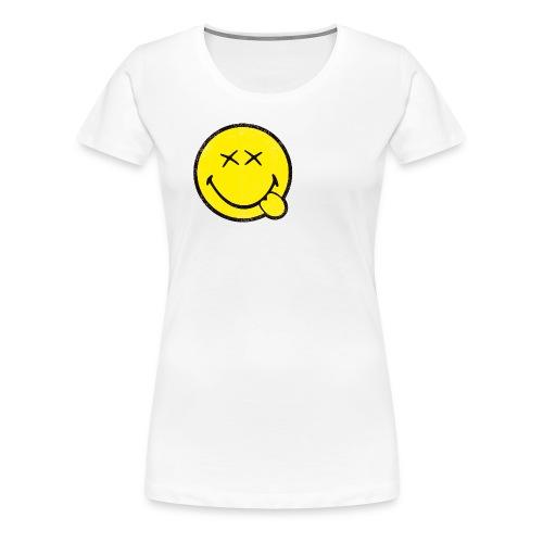 SmileyWorld Klassischer Smiley Used Look - Frauen Premium T-Shirt