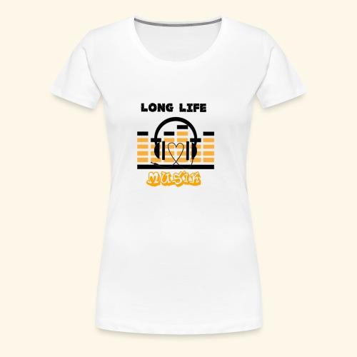 MusicFan - Frauen Premium T-Shirt