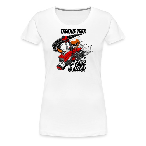 0966 trekkie trek - Vrouwen Premium T-shirt