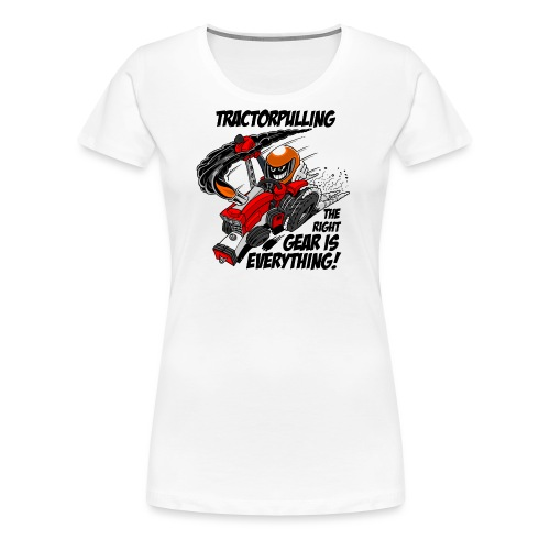 0966 tractorpulling - Vrouwen Premium T-shirt