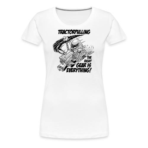 0966 tractorpulling BW - Vrouwen Premium T-shirt