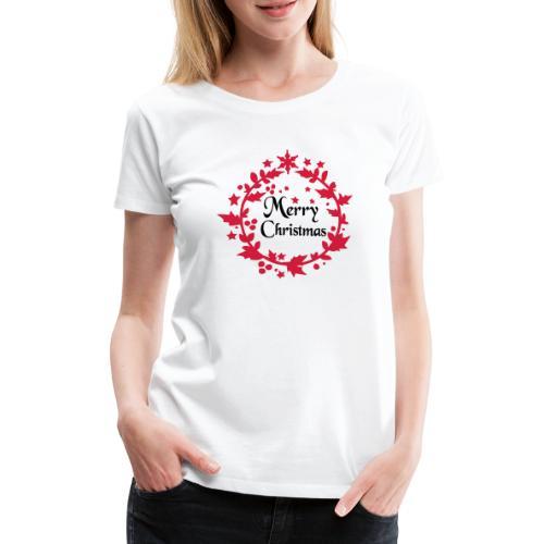 Merry Christmas lease decoration - Women's Premium T-Shirt