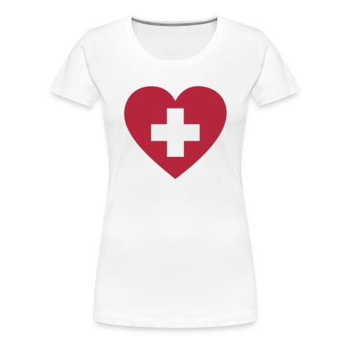 Swiss heart - Frauen Premium T-Shirt