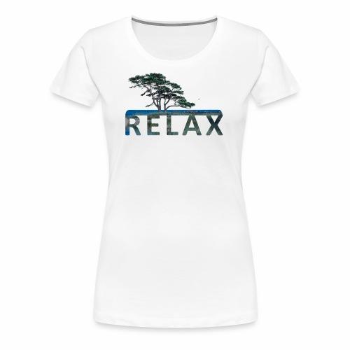 RELAX - unterm Baum am Strand - Frauen Premium T-Shirt