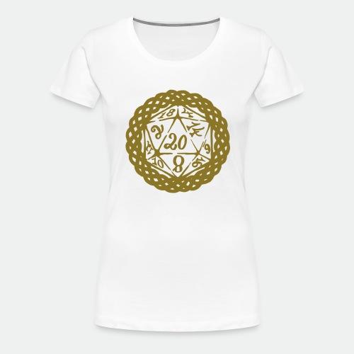 D20 Geschenk Glücksbringer Rollenspiel Würfel - Women's Premium T-Shirt