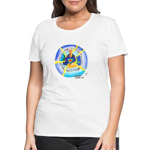 HEART EARTH - Frauen Premium T-Shirt