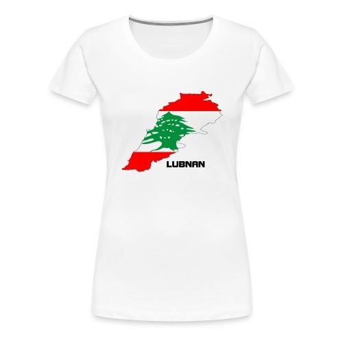 libanon landkarte - Frauen Premium T-Shirt