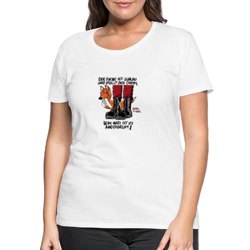 fuchsschlau - Frauen Premium T-Shirt