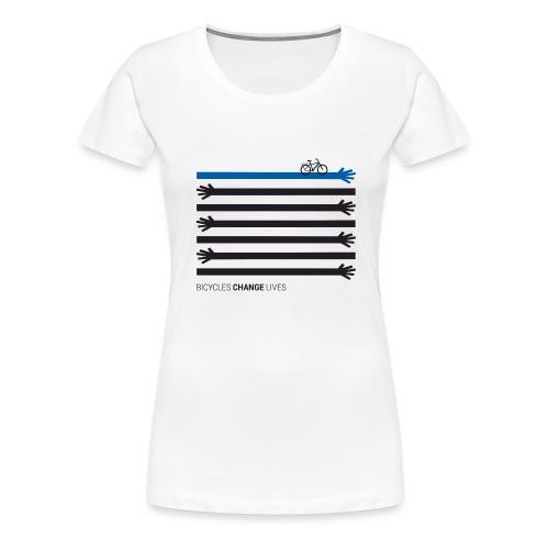 BCL Black Hands One Blue - Women's Premium T-Shirt