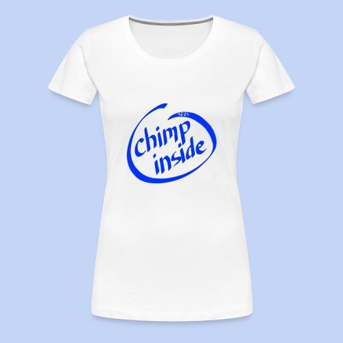 Chimp inside (blue) - Women's Premium T-Shirt