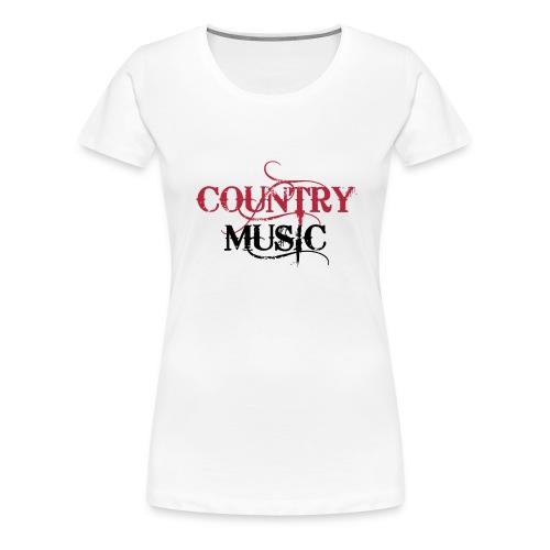 Country Music - T-shirt Premium Femme