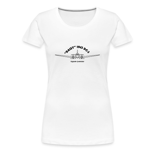 Daisy Blueprint Front 1 - Premium-T-shirt dam