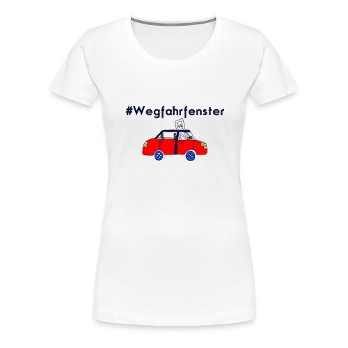 Wegfahrfenster freigestellt anders png - Frauen Premium T-Shirt