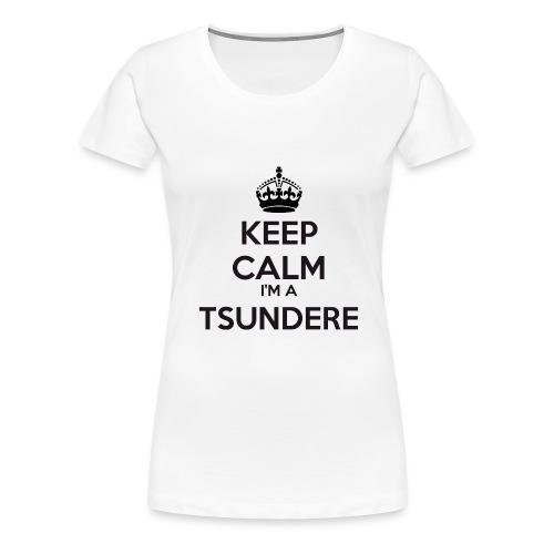 Tsundere keep calm - Women's Premium T-Shirt