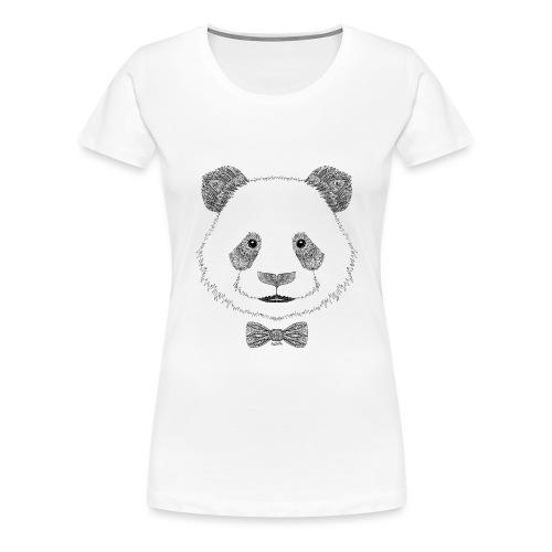 Panda tête noeud papillon - T-shirt Premium Femme