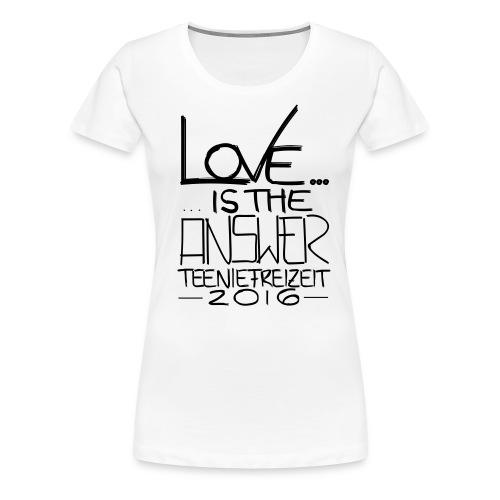 Frauen T-Shirt mit gerollten Ärmeln - Frauen Premium T-Shirt