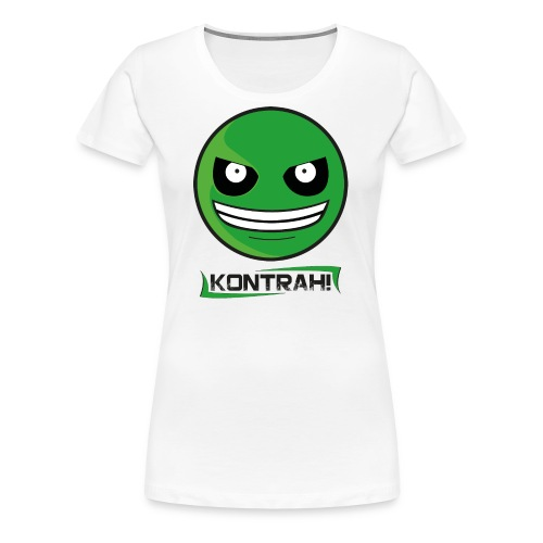 Kontrah Smiley + Schriftzug (weiß) - Frauen Premium T-Shirt