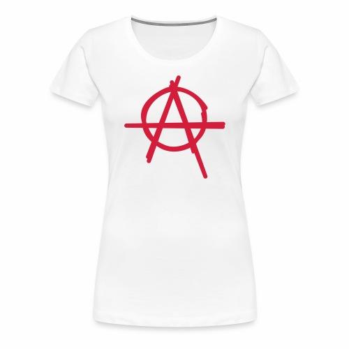 Anarchie Symbol Anarchy Zeichen Punk Logo A Icon - Frauen Premium T-Shirt