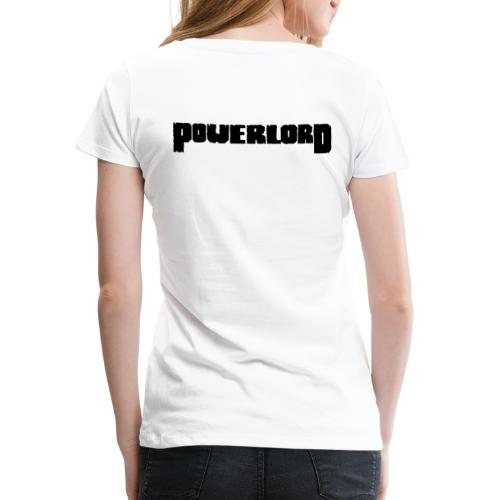 PL Front: Tribal & Back: Schrift - Frauen Premium T-Shirt