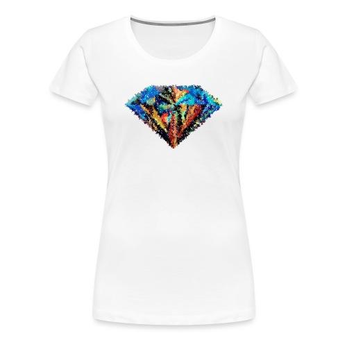Diamant abstrait - T-shirt Premium Femme