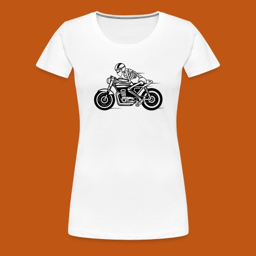 Cafe Racer Motorrad 05_schwarz - Frauen Premium T-Shirt