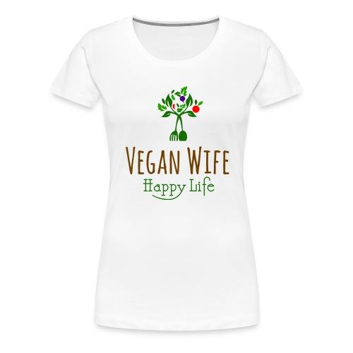 VEGAN WIFE - T-shirt Premium Femme