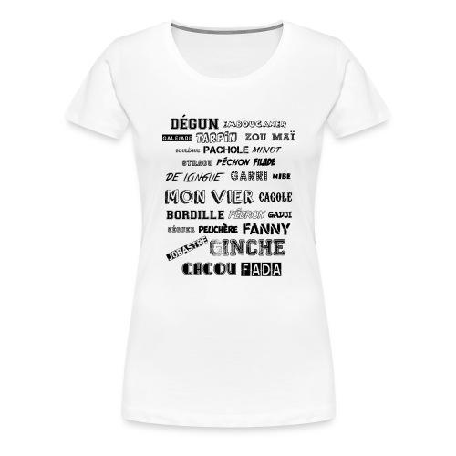 MARSEILLE-NOIR - T-shirt Premium Femme