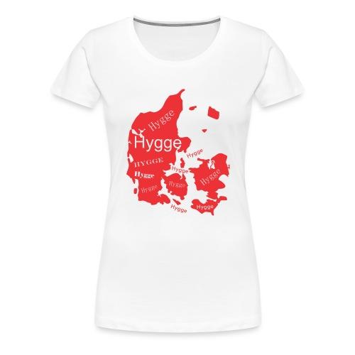 Hygge Mapa rojo - Camiseta premium mujer