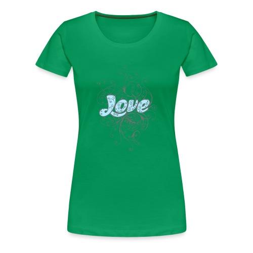 LOVE CON DECORI - Maglietta Premium da donna