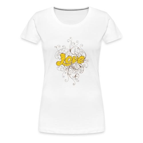 Scritta Love con decorazione - Maglietta Premium da donna
