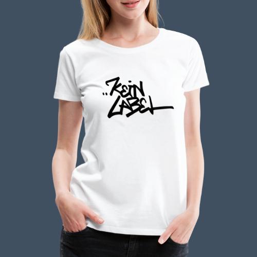 Kein Label Schwarz - Frauen Premium T-Shirt