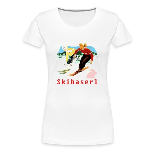 SKIHASERL - Frauen Premium T-Shirt