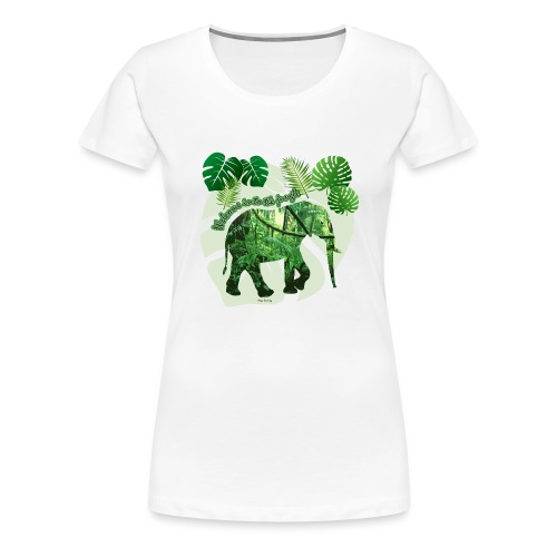 Dschungel - Elefant - Loxodonta cyclotis - Frauen Premium T-Shirt