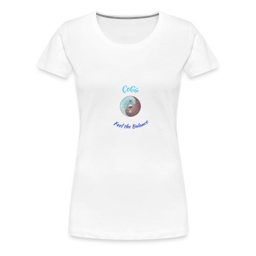 CoGie, Feel the Balance - Women's Premium T-Shirt
