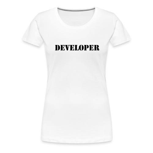 developer - Women's Premium T-Shirt