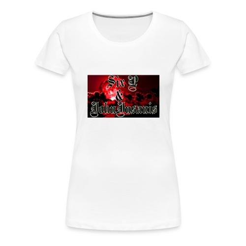 Puna-musta cap - Naisten premium t-paita
