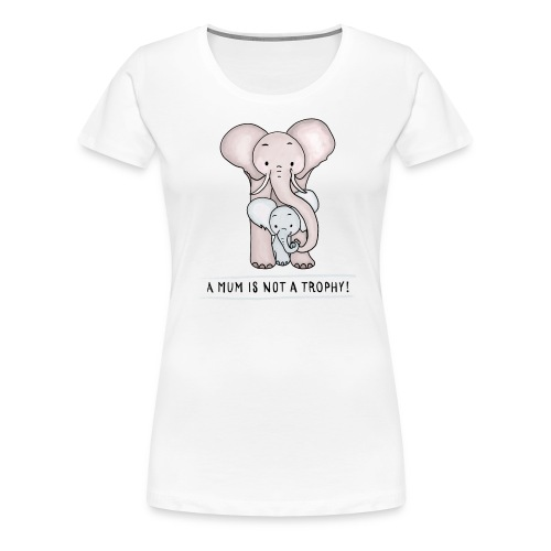 Elephant Baby with Mom - Women's Premium T-Shirt