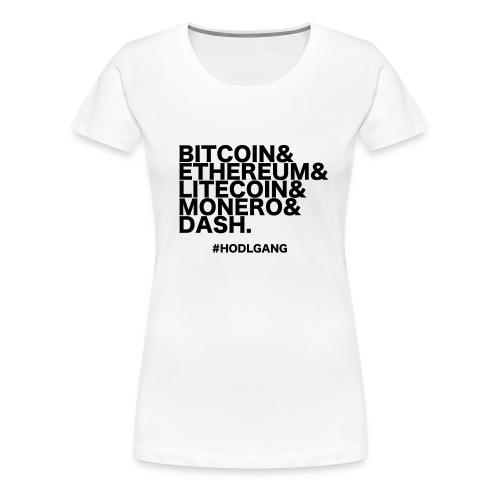 Bitcoin & Ethereum, cooles Crypto Design - Frauen Premium T-Shirt