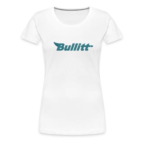 Bullitt logo centred Raised Bluish png - Women's Premium T-Shirt