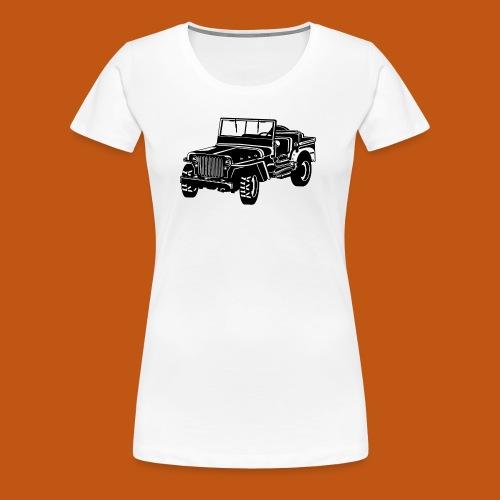 Geländewagen / Jeep SUV 02_schwarz weiß - Frauen Premium T-Shirt