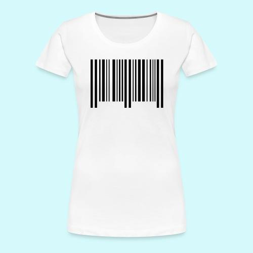 barcode - schwarz - Frauen Premium T-Shirt