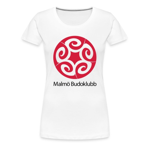 Malmö Budoklubb Logotype text red black - Premium-T-shirt dam