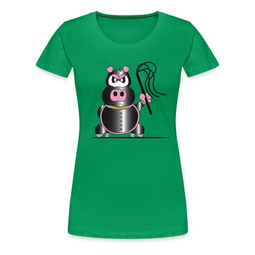 Schweinchen Sado - Frauen Premium T-Shirt