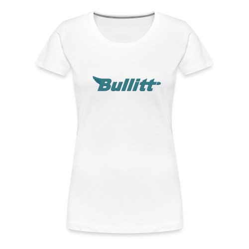 Bullitt logo centred Raised Bluish png - Women's Premium T-Shirt