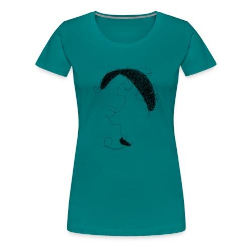 Paraglider scribble black - Frauen Premium T-Shirt