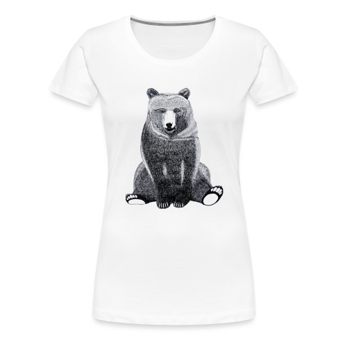Bär Süß Bild Kinder Weihnachten Tiere - Frauen Premium T-Shirt