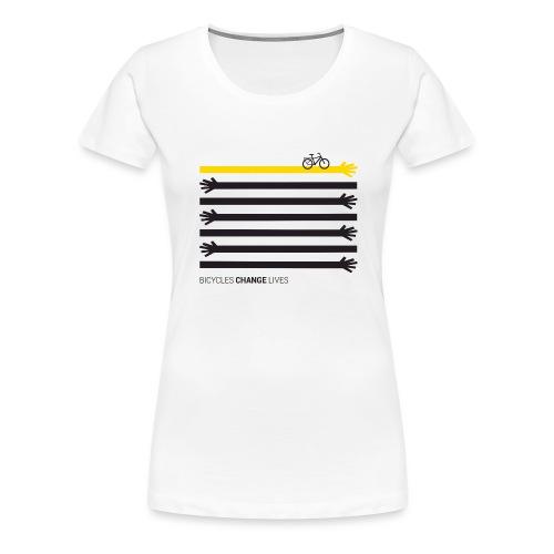 BCL Black Hands One Yellow - Women's Premium T-Shirt