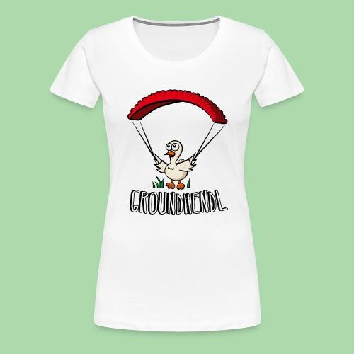 Groundhendl Paragliding Huhn - Frauen Premium T-Shirt