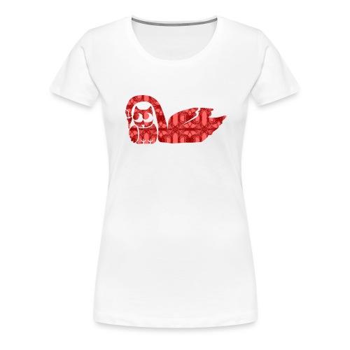 Liebespärchen Eule mit Schwan - Frauen Premium T-Shirt