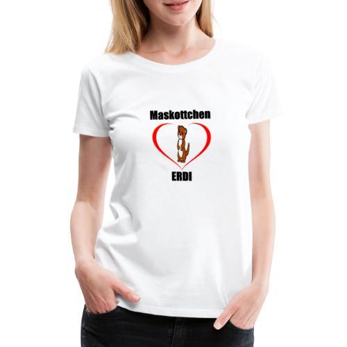 Herz Maskottchen Erdi - Frauen Premium T-Shirt